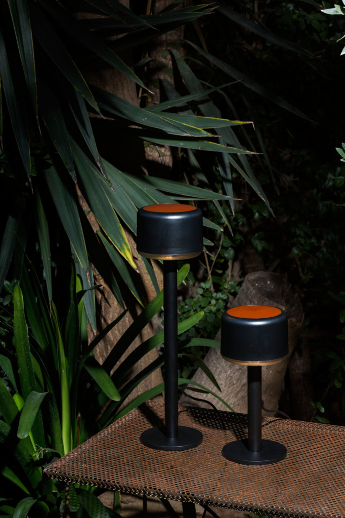 Oco garden lamp produced by Santa & Cole